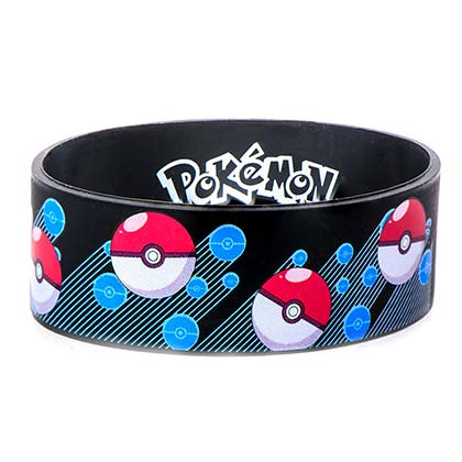 Pokemon Rubber Pokeball Bracelet