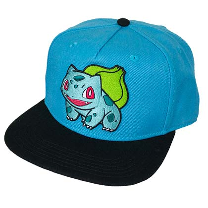 Pokemon Blue Bulbasaur Snapback Hat