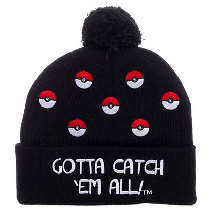 Pokemon Pokeball PomPom Winter Beanie