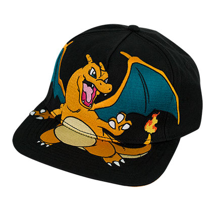 Pokemon Charizard Black Snapback Hat