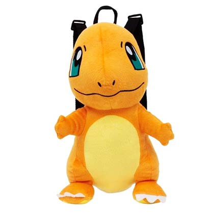 Pokemon Charmander Zipped Plush Backpack