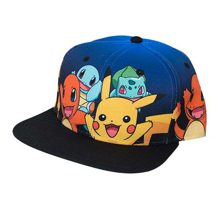 Pokemon Character Black Snapback Hat
