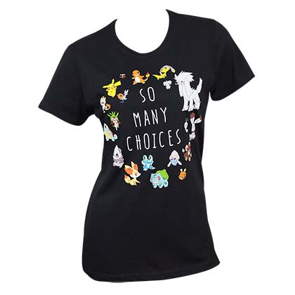 Pokemon So Many Choices Black Women's T-Shirt
