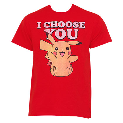 Pokemon Men's Red Pikachu I Choose You T-Shirt