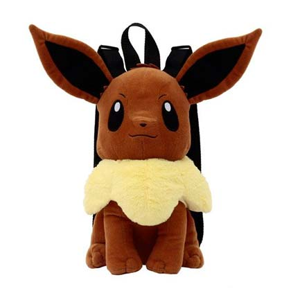 Pokemon Eevee Zipped Plush Backpack