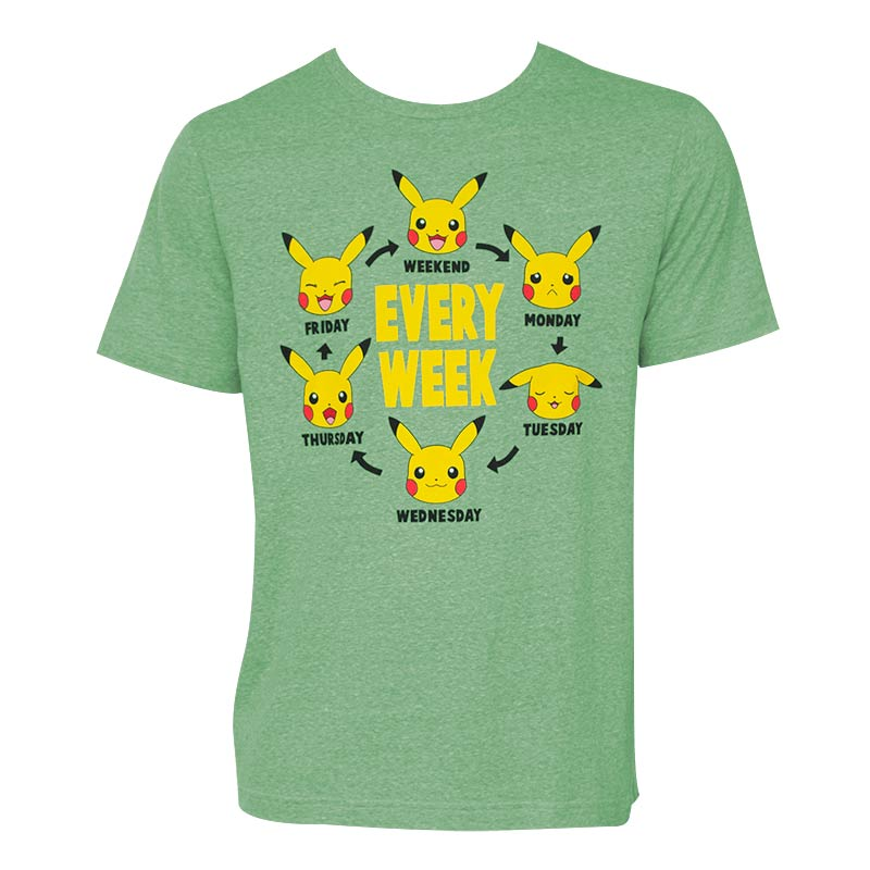 Pokemon Pikachu Every Week Tee Shirt