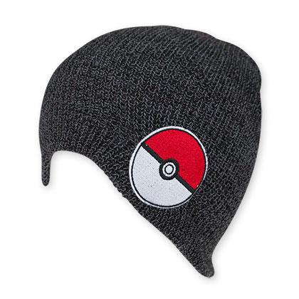 Pokemon Gray Pokeball Logo Beanie