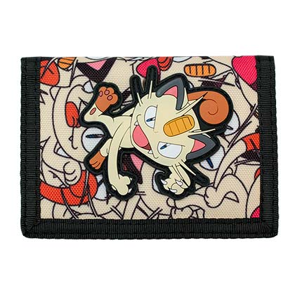 Pokemon Velcro Street Art Meowth Wallet