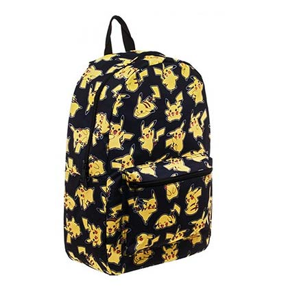 Pokemon Black Pikachu Sublimated Backpack