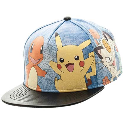 Pokemon Pikachu Charmander and Meowth Hat