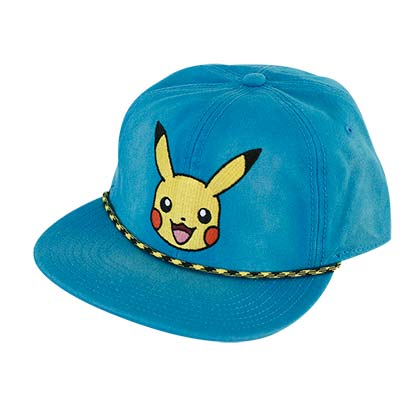Pokemon Pikachu Star Logo Washed Snapback Hat