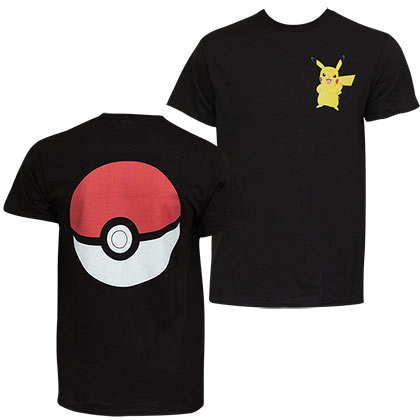 Pokemon Men's Pikachu Pokeball T-Shirt