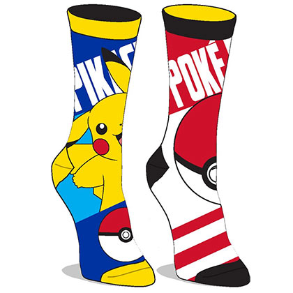 Pokemon Reversible Pikachu Juniors Crew Socks