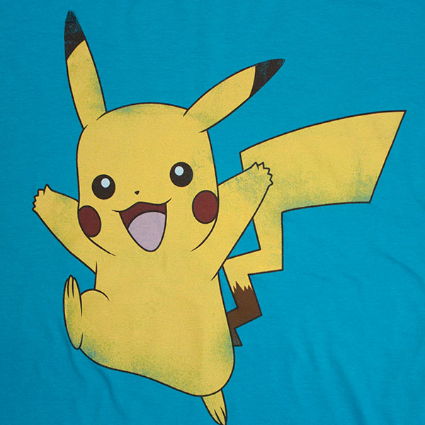 Blue Pokemon Pikachu T-Shirt
