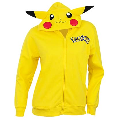 Pokemon Pikachu Yellow Youth Costume Hoodie