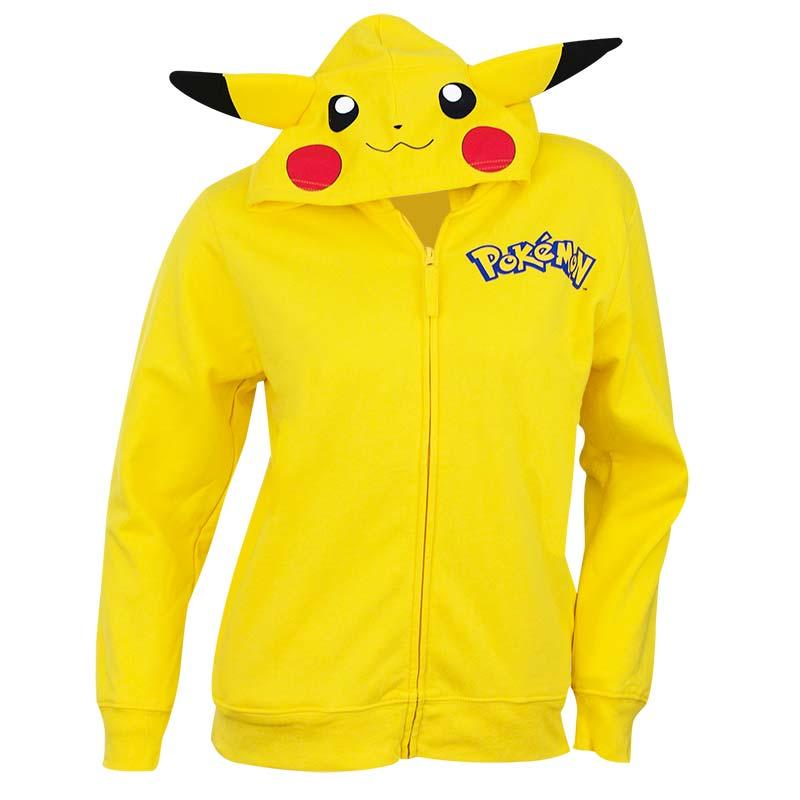 Pokemon Youth Yellow Pikachu Costume Hoodie