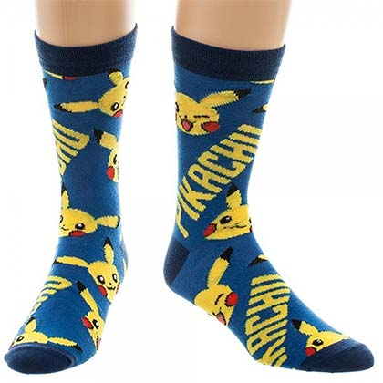 Pokemon Pikachu Men's Crew Socks