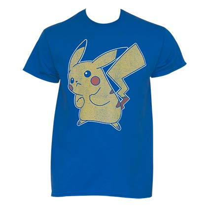 Pokemon Faded Men's Pikachu T-Shirt
