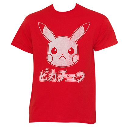 Pokemon Japanese Men's Pikachu T-Shirt