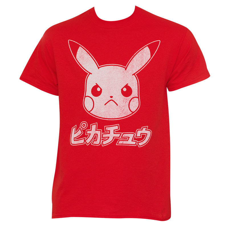 f3f0b442b Pokemon Men's Red Japanese Pikachu T-Shirt | SuperheroDen.com