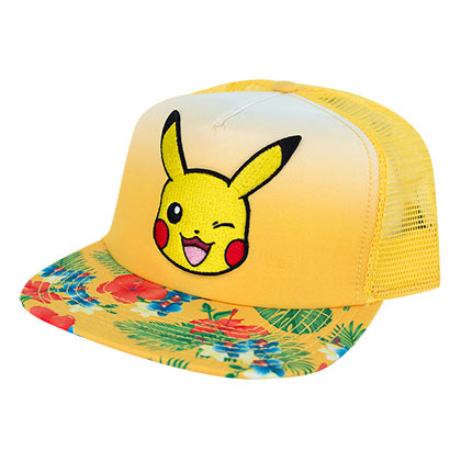 Pokemon Pikachu Yellow Floral Trucker Hat