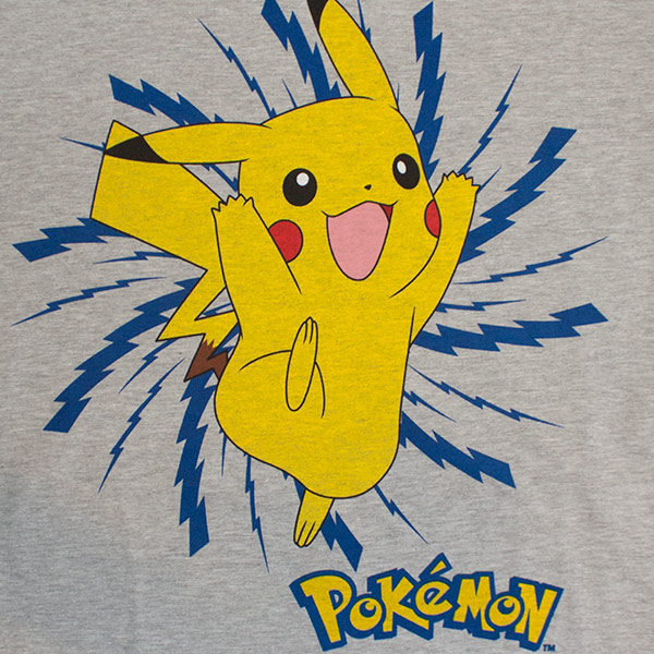 Men's Pikachu Lightning Bolt Pokemon Tee Shirt