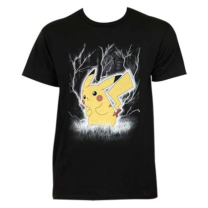 Pokemon Pikachu Lightning Tee Shirt