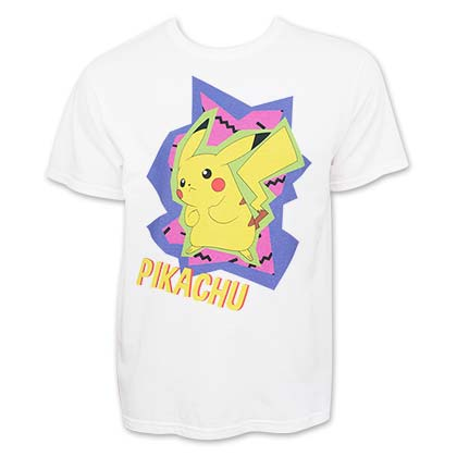 Pokemon Men's 80's Neon Pikachu T-Shirt
