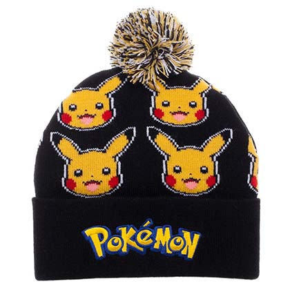 Pokemon Pikachu PomPom Winter Beanie