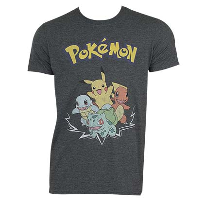 Pokemon Men's Character Group T-Shirt