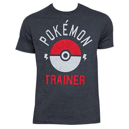 Pokemon Men's Heather Grey Trainer T-Shirt