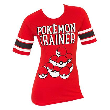 Pokemon Trainer Red Juniors Hockey Tee Shirt