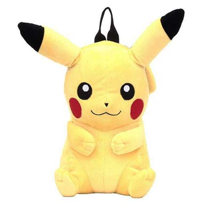 Pokemon Pikachu Zipped Plush Backpack