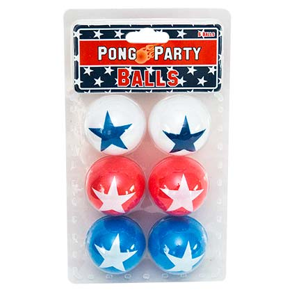 USA Pong Party Ping Pong Balls