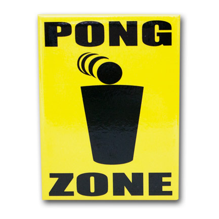 Beer Pong Zone Fridge Magnet