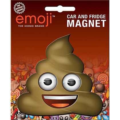 Poop Emoji Car And Fridge Magnet