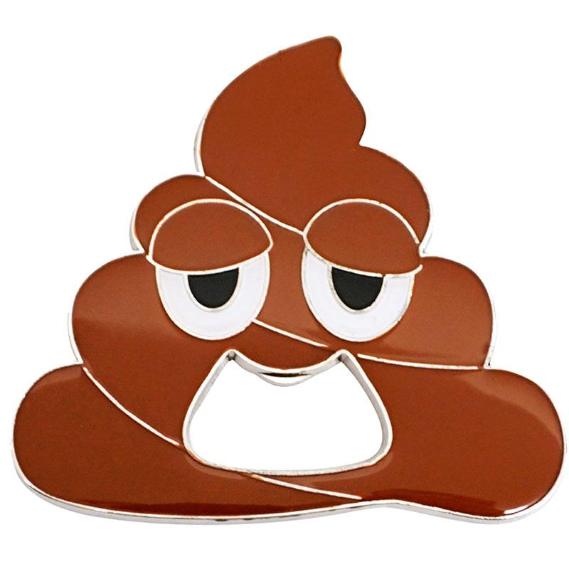 Poop Emoji Metal Bottle Opener
