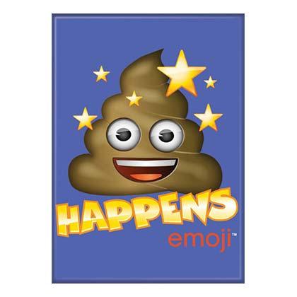 Poop Happens Emoji Magnet
