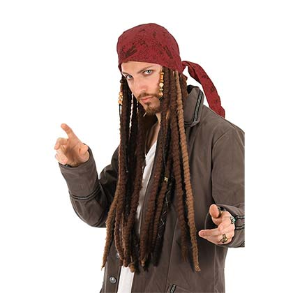 Pirates Of The Caribbean Jack Sparrow Dreadlock Costume Bandana