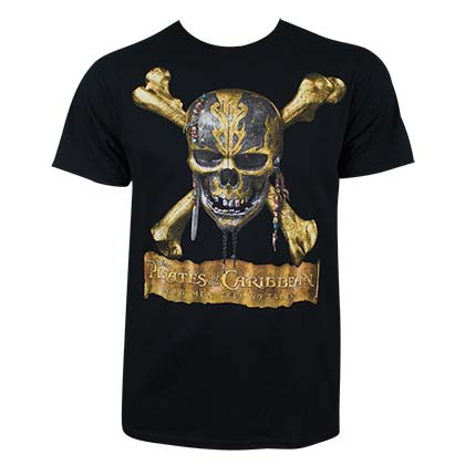 Pirates Of The Caribbean Men's Black Dead Men Tell No Tales T-Shirt