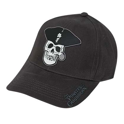 Disney Gray Pirates Of The Caribbean Skull Logo Hat