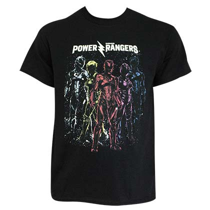 Power Rangers Men's Black Crew T-Shirt