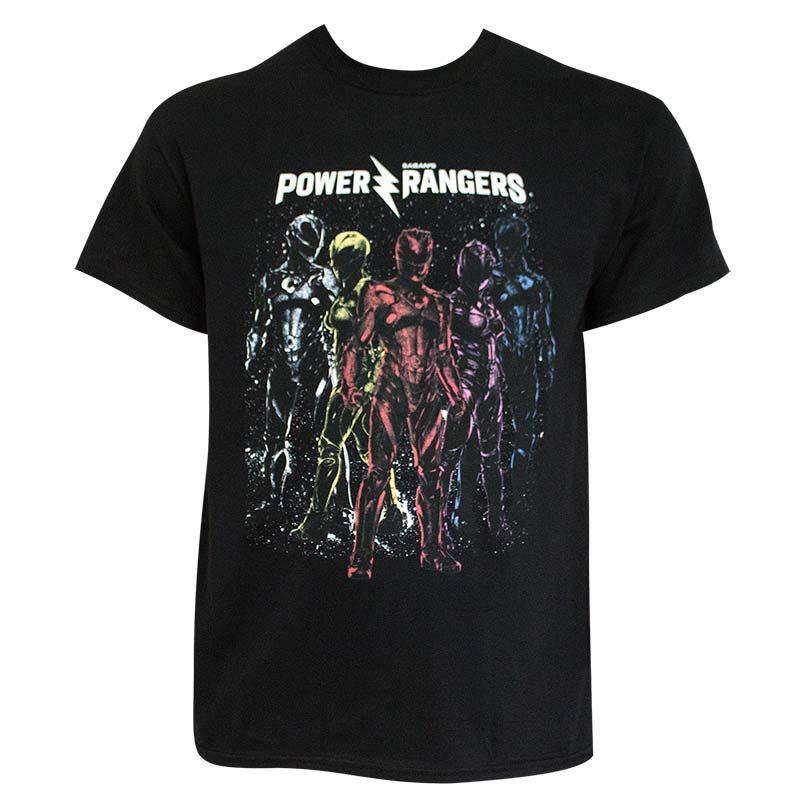 Power Rangers Black Men's Squad T-Shirt