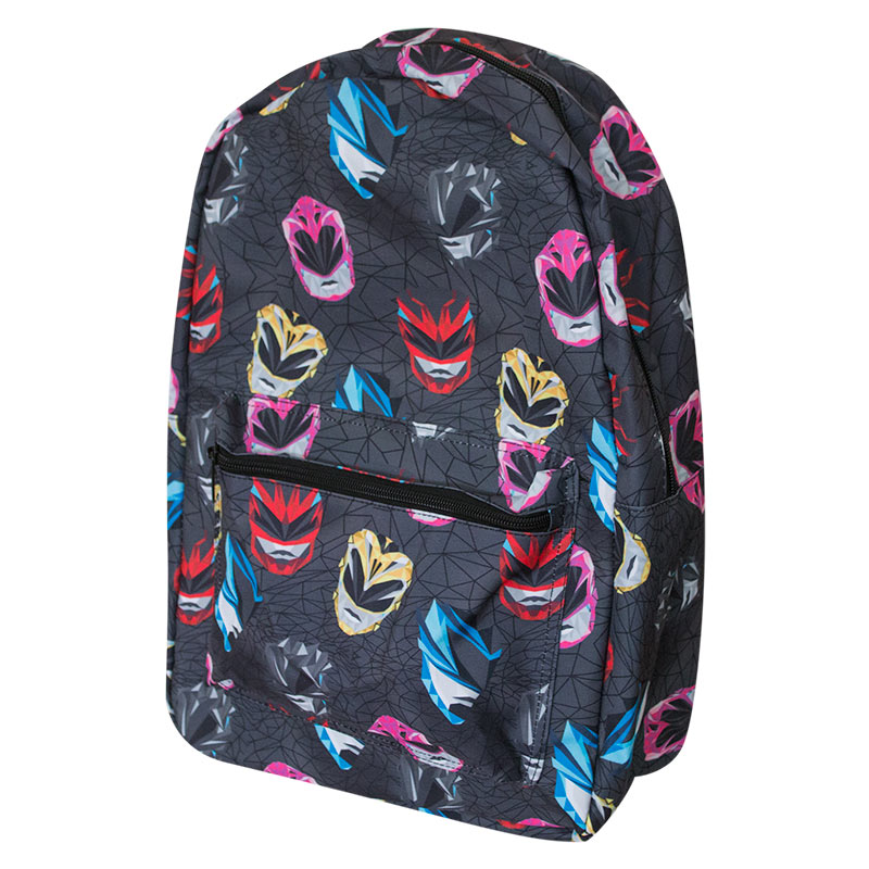 Power Rangers Black All Over Print Backpack | TVMovieDepot.com