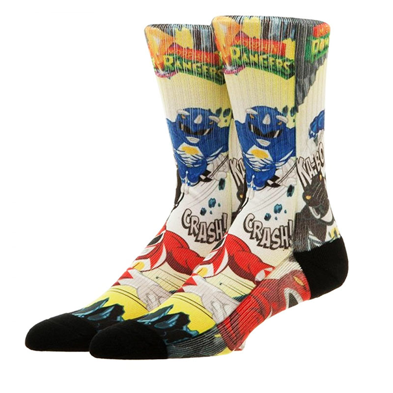 Power Rangers Comic Crew Socks