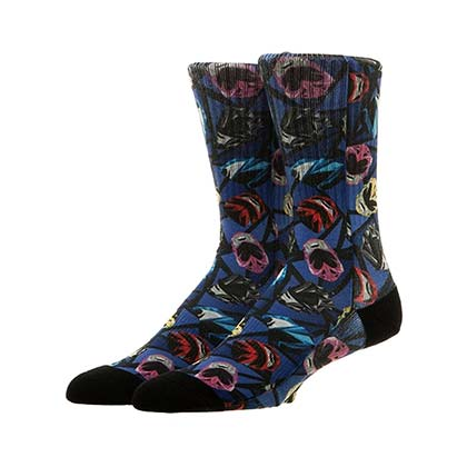 Power Rangers Comic Helmet Crew Socks