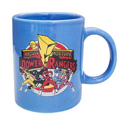 Power Rangers Group Blue Ceramic Mug