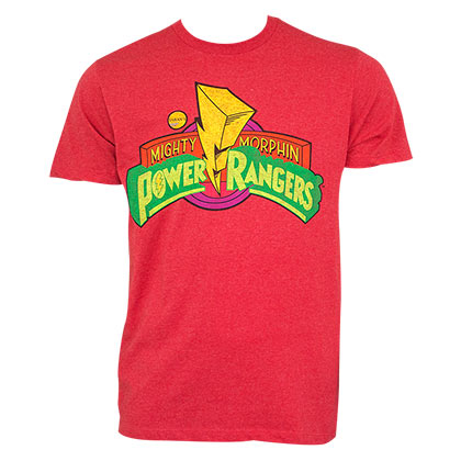 Power Rangers Men's Red T-Shirt