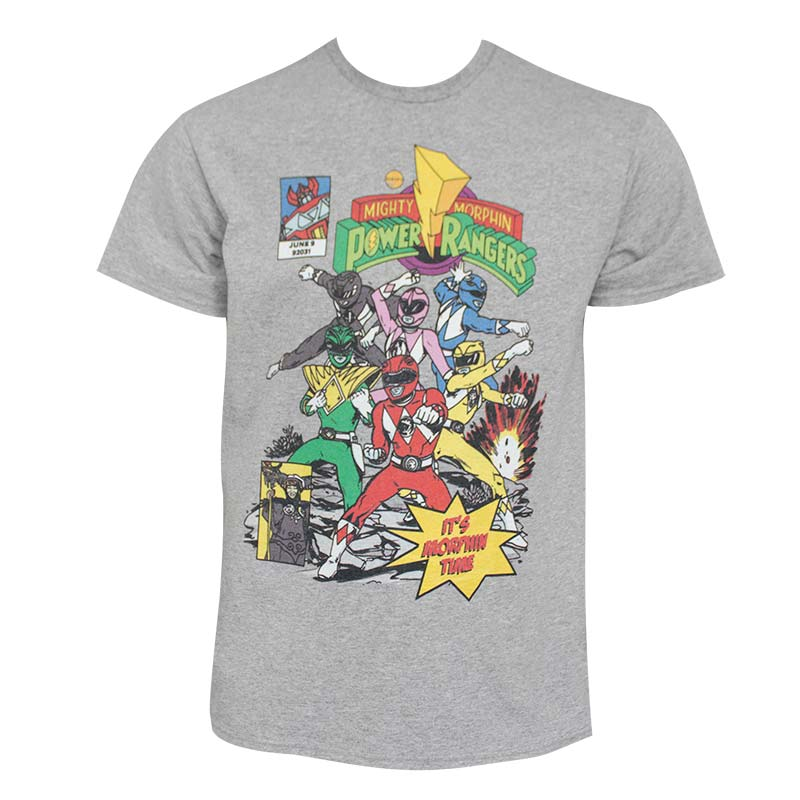 Power Rangers Morphin Time Men's T-Shirt