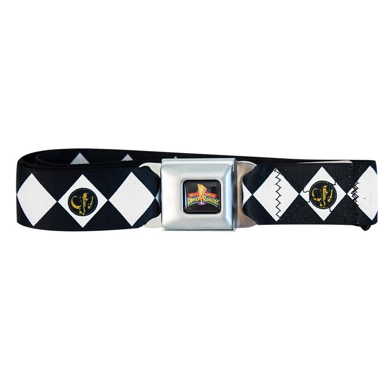 Power Rangers Seatbelt Black Ranger Belt